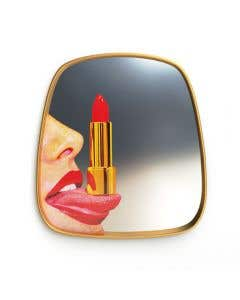Tongue Gold Frame Mirror