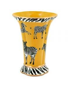 Zebra Vase Yellow