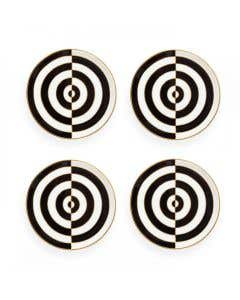 Op Art Coasters – Set of 4