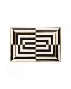 Opt Art Rectangle Trinket Tray