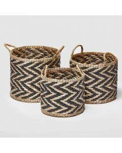 Straw Basket Set of 3