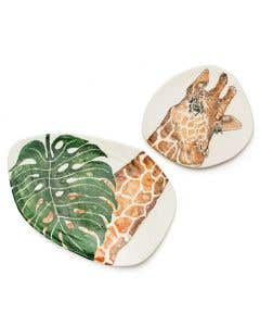 Giraffe Platter – Set of 2