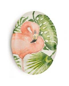 Giant Oval Platter Flamingo