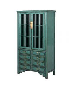 Carew Blue Painted Cupboard