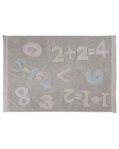 Numbers Washable Cotton Rug