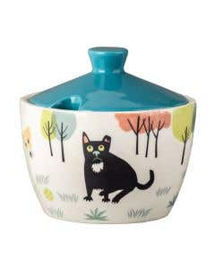 Dog Sugar Pot with Lid