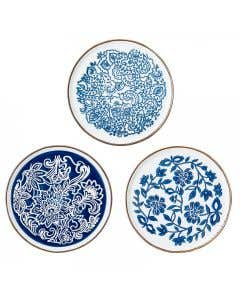 Molly Plate Blue Stoneware