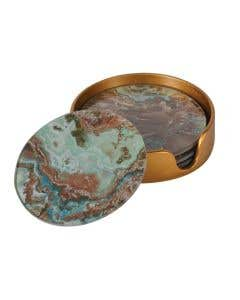 Marble Effect Coasters Set/4
