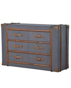 Milne 6 Drawer  Fabric Trunk