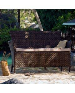Ocean Wave 4ft Bench with Cushion
