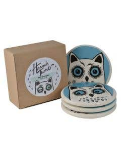 Owl Coaster Set of 4