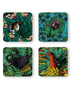 Jungle Coasters Set of 4