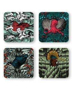 Wild Coasters Set of 4