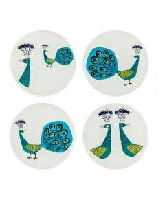 Peacock Coasters Set of 4