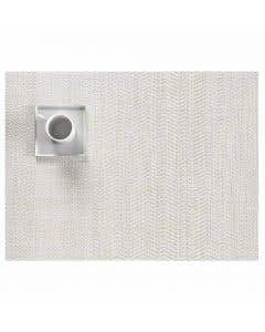 Wave Rectangle Grey Placemat
