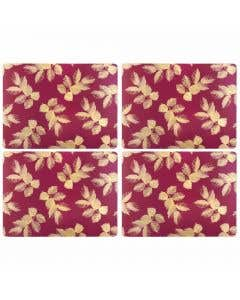 Berry Etched Placemats Set/4