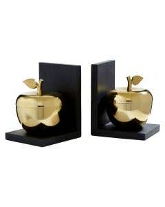 Gold Apple Bookends
