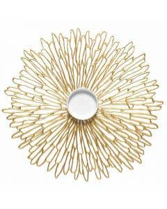 Bloom Round Placemat Gold