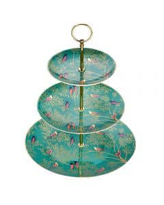 Green Birds 3 Tier Cake Stand