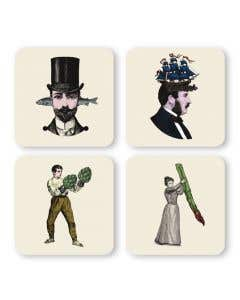 People Coasters Set of 4