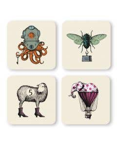 Animal Coasters Set of 4