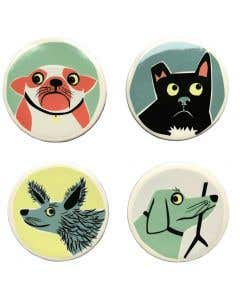 Dog Coasters – Set of 4