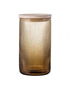 Clear Tall Glass Jar With Lid