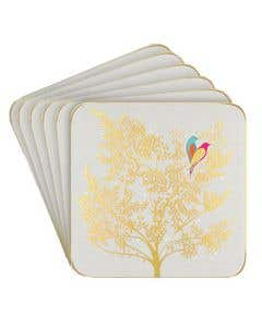 Lovebirds Coaster Set of 6