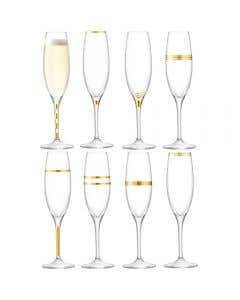 Deco Champagne Flute Set of 8