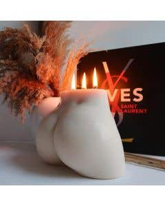 Selene Ivory Large Bum Candle